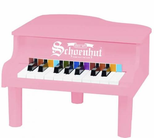 Mini Baby Grand Piano for Kids, Pink