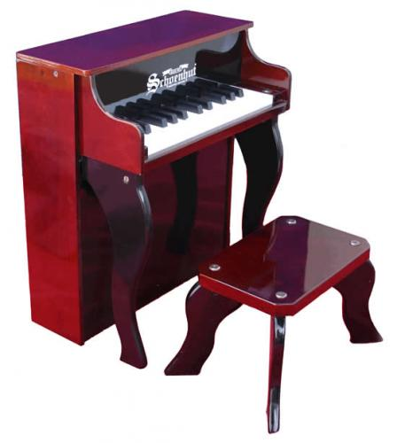 Elite Spinet Kids Piano, Mahogany