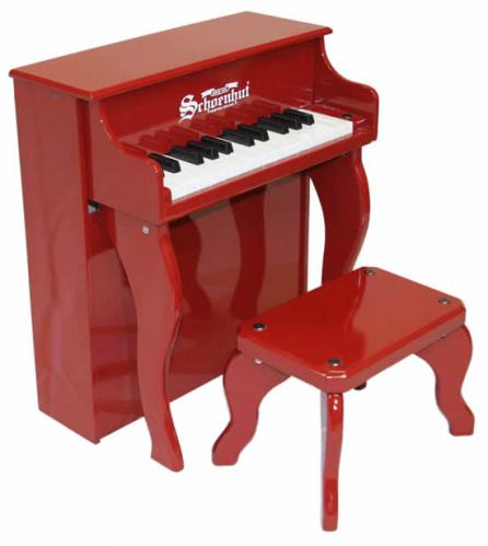 Elite Spinet Kids Piano, Red