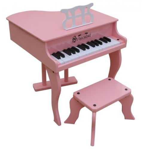 Fancy baby grand piano for kids pink for Smallest baby grand piano dimensions