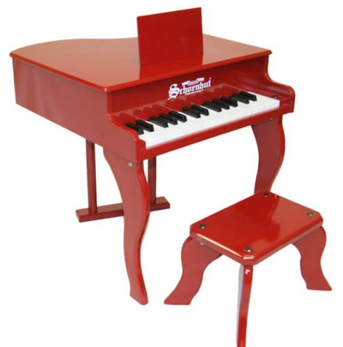 Fancy Baby Grand Piano for Kids, Red