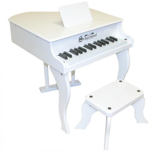 Fancy Baby Grand Piano for Kids, White