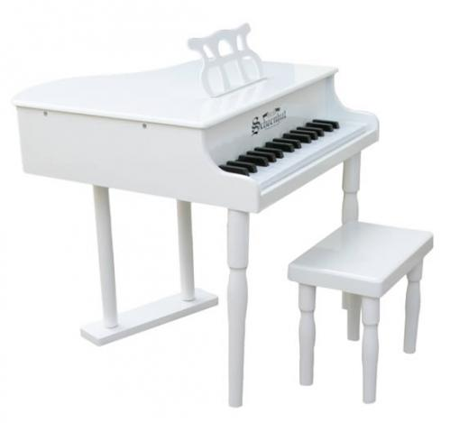 Classic Baby Grand Toy Piano, White
