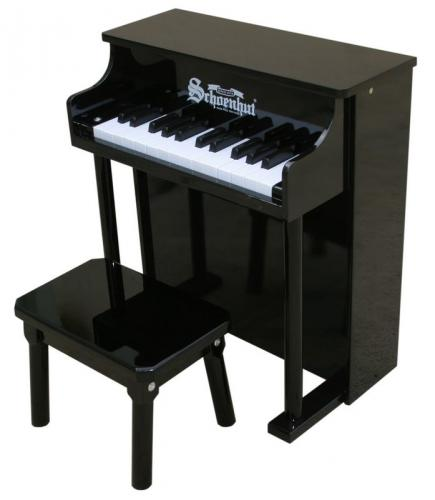 Traditional Spinet Toy Piano, Black