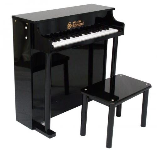 Traditional Deluxe Spinet Piano for Kids - Black