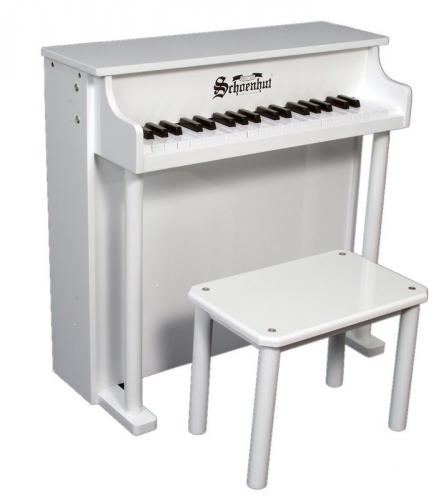 Traditional Deluxe Kids Piano, White