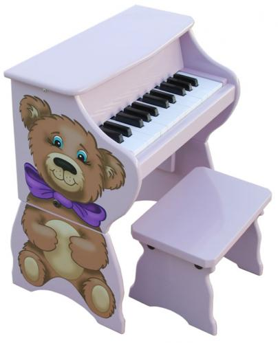 Teddy Bear Toy Piano with Bench