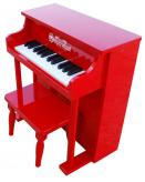 Traditional Spinet Toy Piano, Red