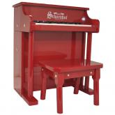 28 Traditional 25 Key Spinet Toy Piano, Red