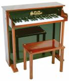 Traditional Deluxe Spinet Piano for Kids, Black/Mahogany