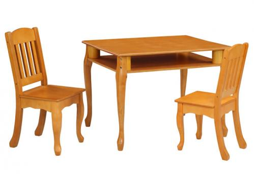 Windsor rectangular table and chair set honey for Table td width