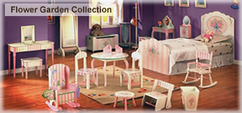 Flower Garden Handpainted Play Furniture