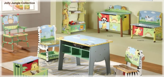 Jolly Jungle Handpainted Play Furniture