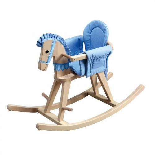 Safari Natural Rocking Horse w/Blue Pad