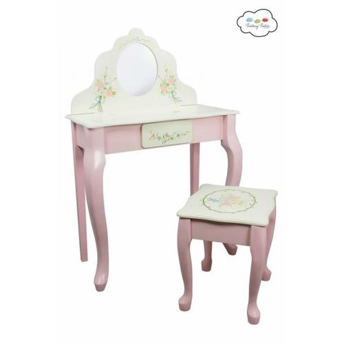 Flower Garden Vanity Table Amp Stool Round Mirror