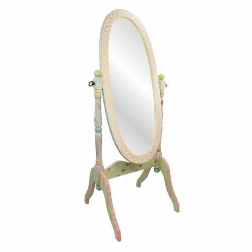 Shabby Chic Floral Standing Mirror Thumbnail