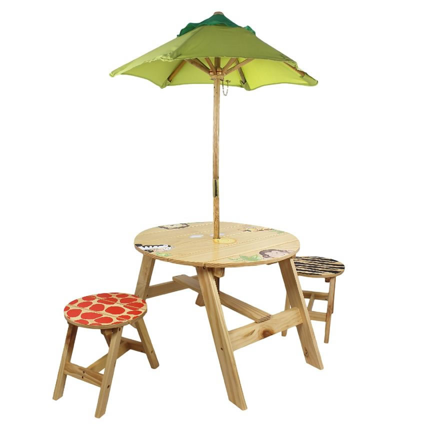 Jolly jungle outdoor table set of 2 chairs for Table design jungle
