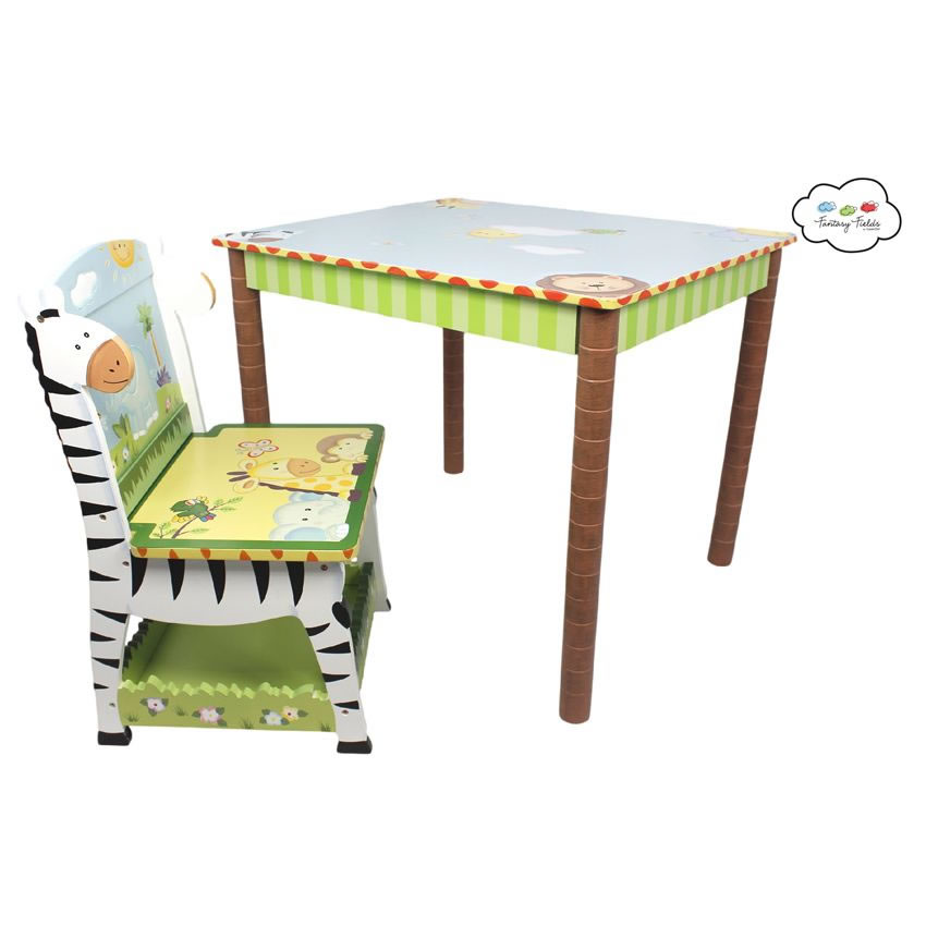 Jolly jungle table set of 2 chairs for Table design jungle