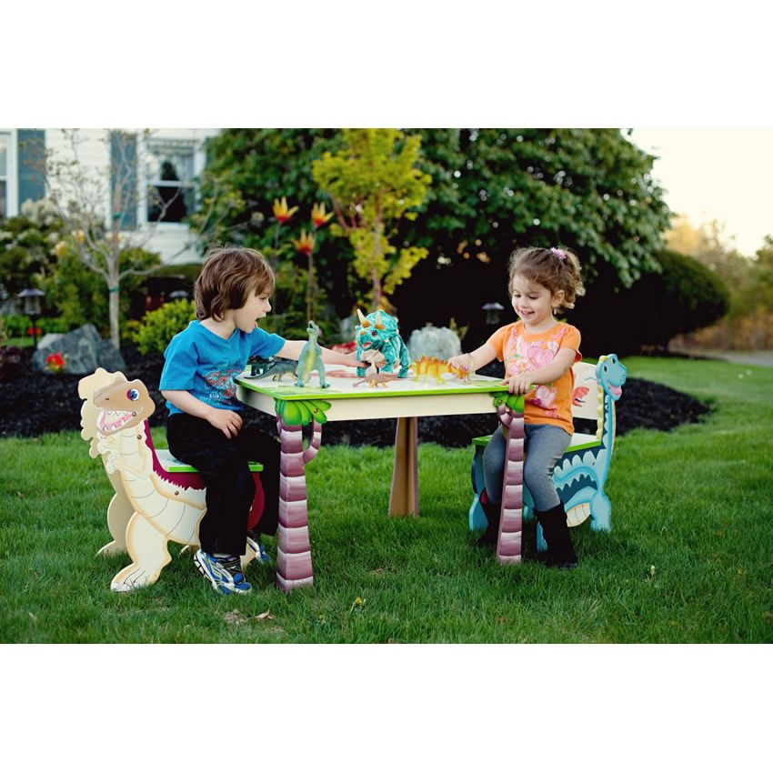 Dinosaur Kingdom Table & Set of 2 Chairs Thumbnail 2