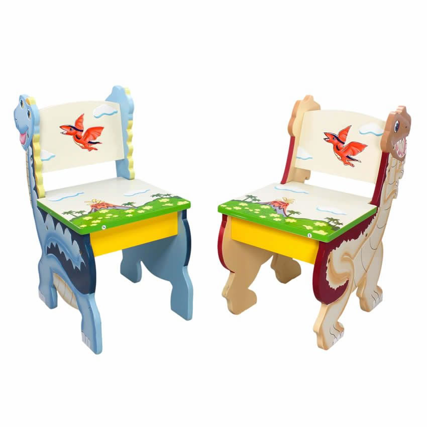 Dinosaur Kingdom Table & Set of 2 Chairs Thumbnail 1