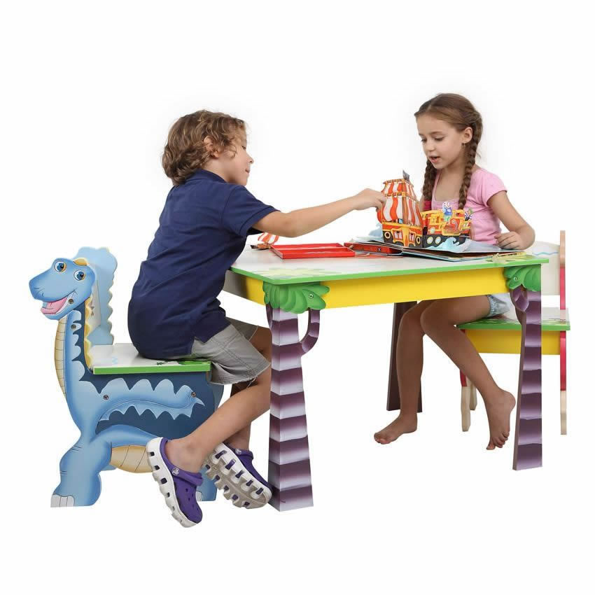 Dinosaur Kingdom Table & Set of 2 Chairs Thumbnail 12