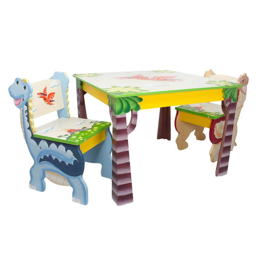 Dinosaur Kingdom Table & Set of 2 Chairs Thumbnail 13
