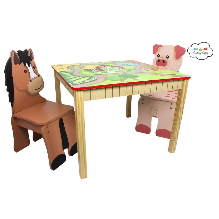 Happy Farm Table & Set of 2 Chairs Thumbnail 4