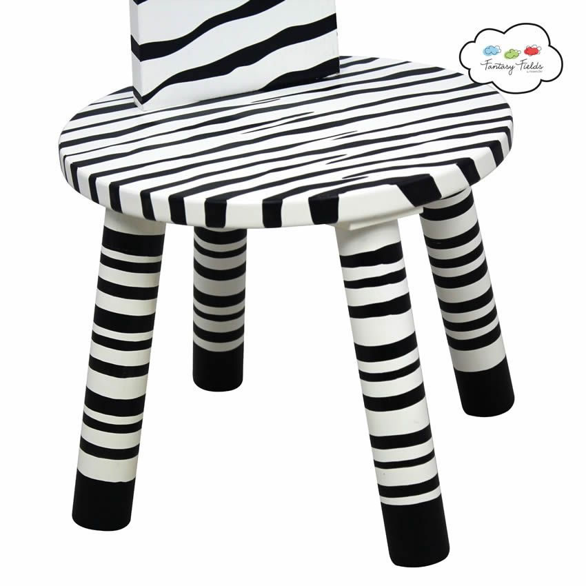 Zebra Chair and Clothes Stand Thumbnail 1