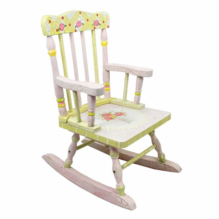 Shabby Chic Floral Rocking Chair Thumbnail 1