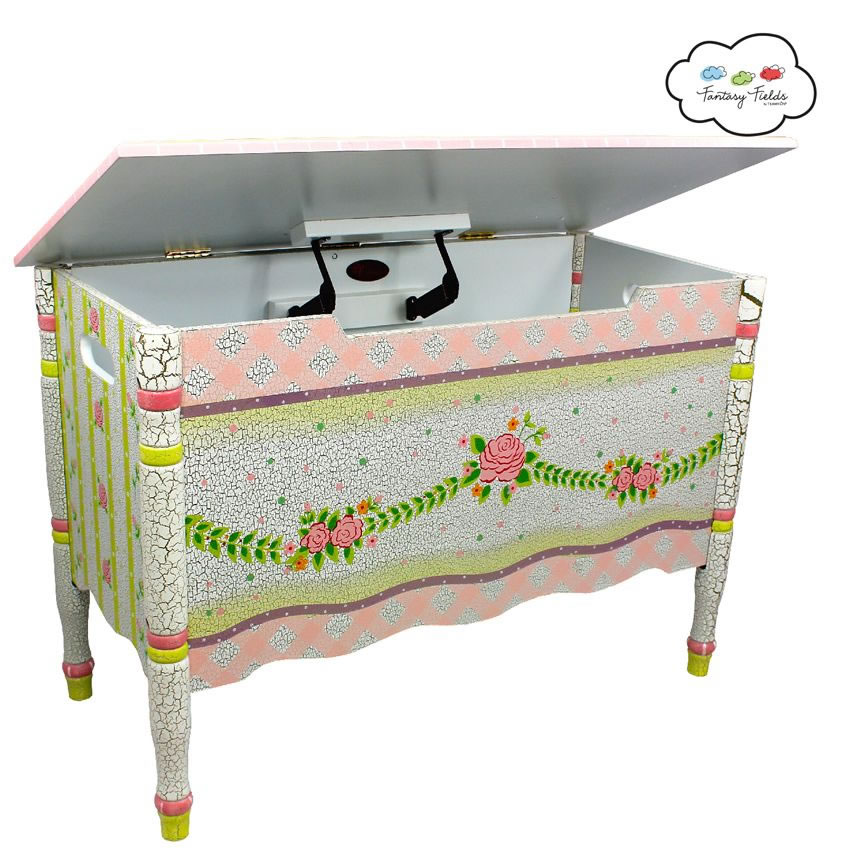 Shabby Chic Floral Collection, Toy Chest Thumbnail 1