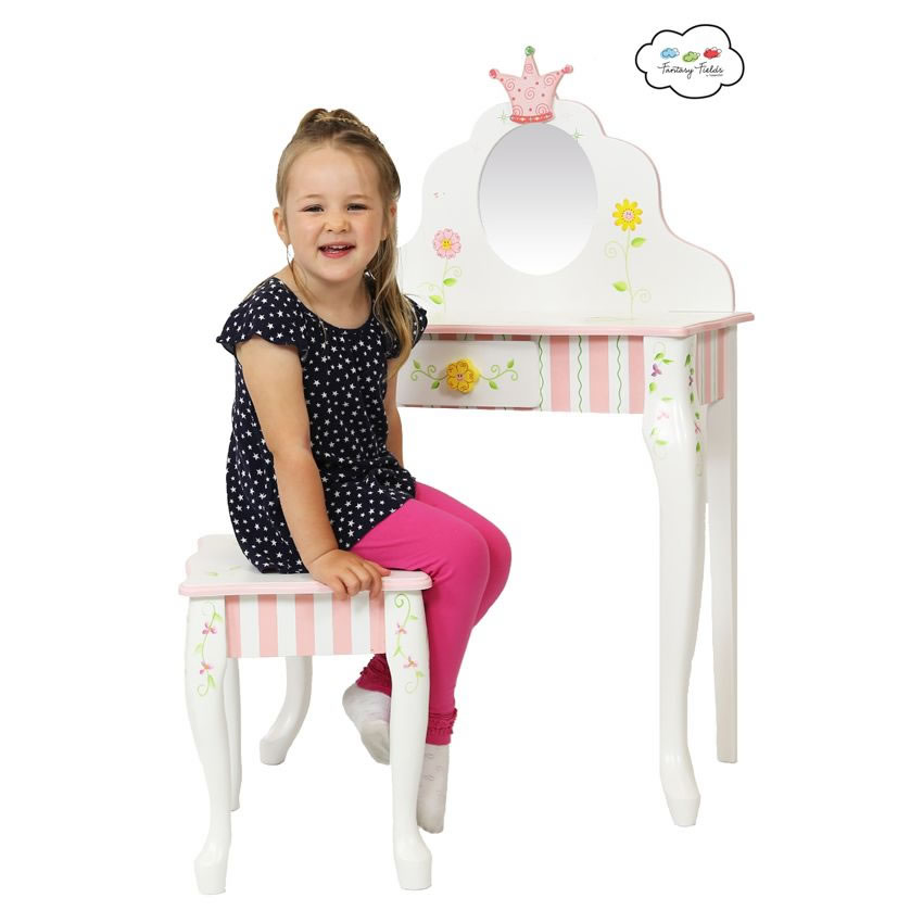 princess the frog vanity table stool set. Black Bedroom Furniture Sets. Home Design Ideas