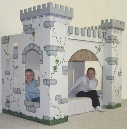 Build wooden castle bed playhouse plans plans download for How to build a castle bed