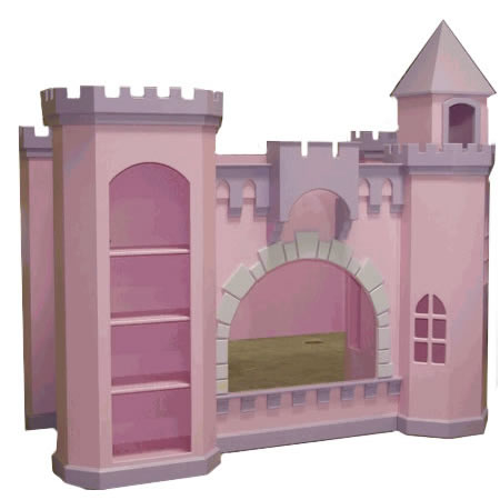 Girls Princess Castle Bunk Bed