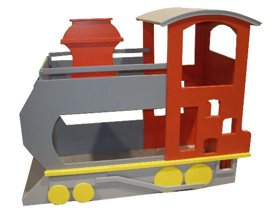 Train Bunk Bed Red
