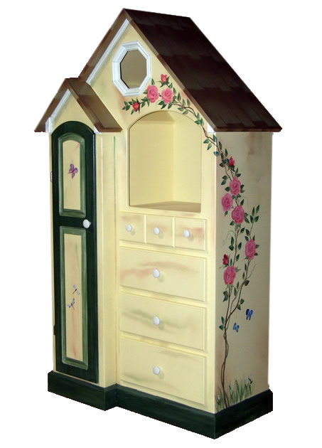 Custom Painted Cottage Dresser Main Thumbnail