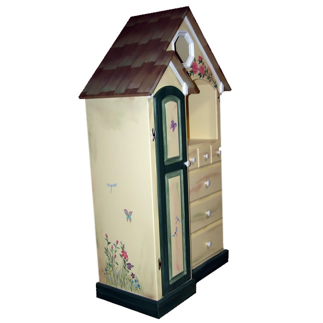 Custom Painted Cottage Dresser Thumbnail 1