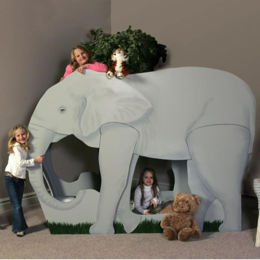 . Elephant Jungle Safari Themed Bunk Bed