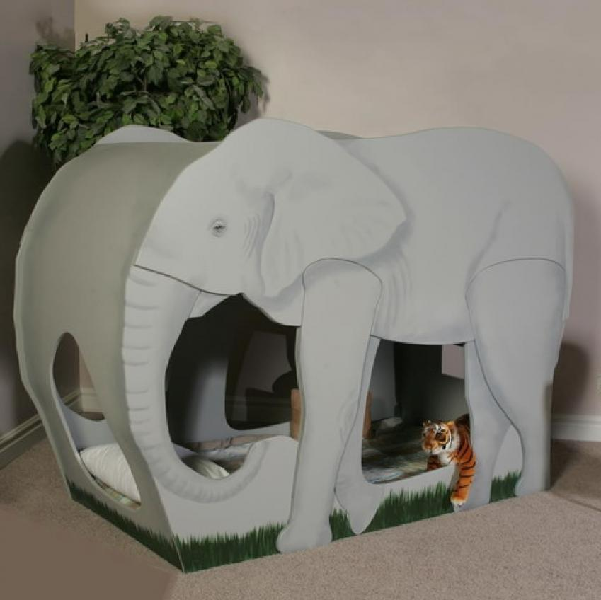 Elephant Jungle Safari Themed Bunk Bed Thumbnail 2. Elephant Jungle Safari Themed Bunk Bed