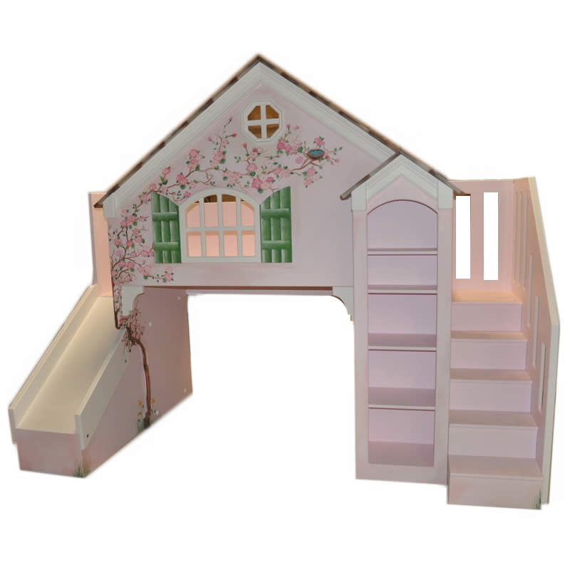 Maryville Cottage Bunk Bed w Slide Staircase
