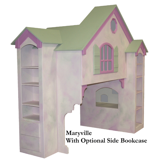Maryville Dollhouse Loft Bed, Twin Over Full Thumbnail 2