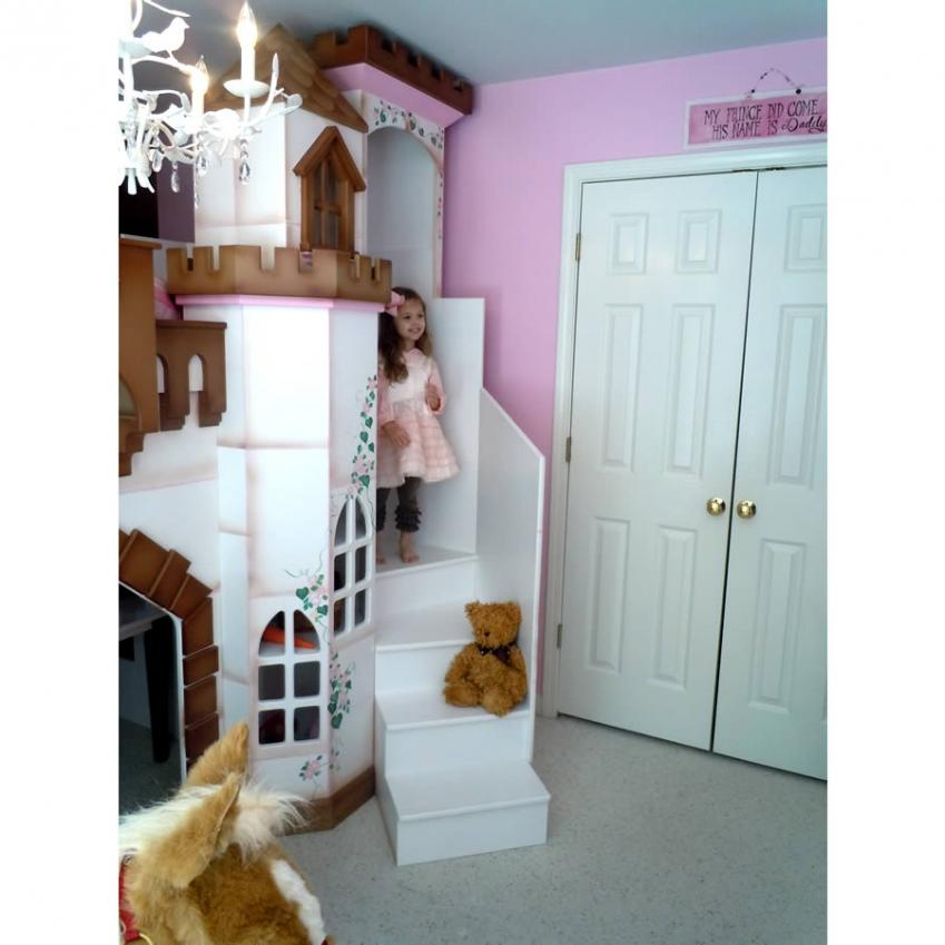 Petite Buckingham Palace Bunk Bed, Brown Accents Thumbnail 2