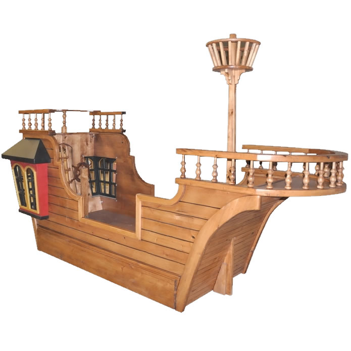 Blackbeard's Pirate Ship Bed w/ Optional Trundle