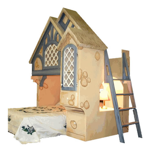 Snow White Cottage Themed Bunk Bed Thumbnail 1