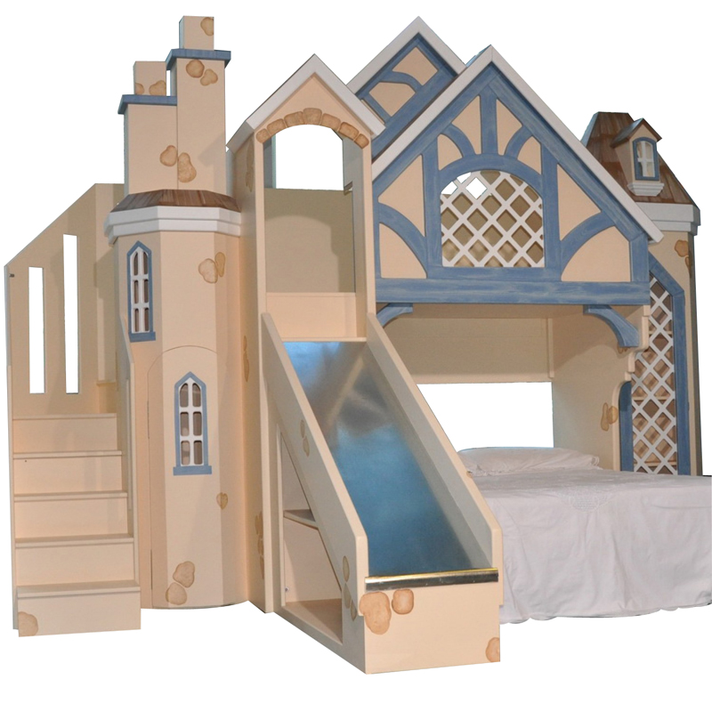 Snow White Cottage Bunk Bed W Slide Amp Staircase