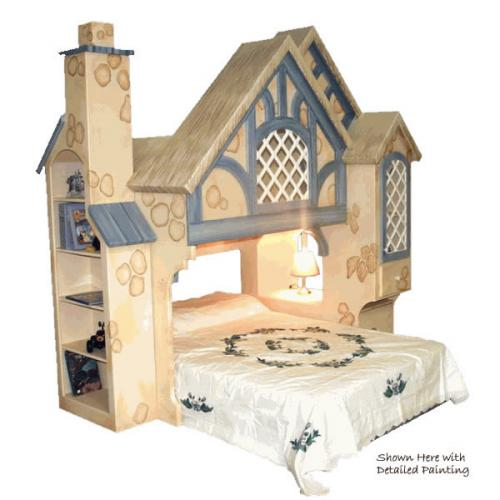 Snow White Cottage Themed Bunk Bed Thumbnail