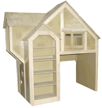 Tiki Hut Bunk Bed with Bamboo