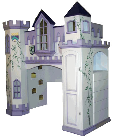 Castle Bunk Bed with Built-in Dresser