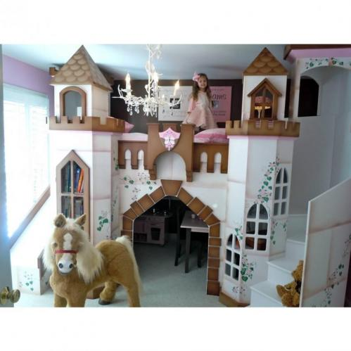 Petite Buckingham Palace Bunk Bed, Brown Accents Thumbnail