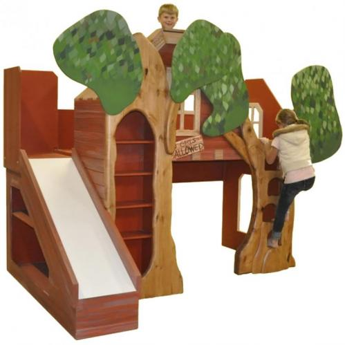 Treehouse Theme Bed with Slide
