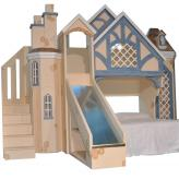 Snow White Cottage Bunk Bed w/ Slide & Staircase
